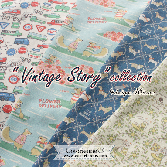 Cotorienne Vintage Story fabric collection, anyan for YUWA